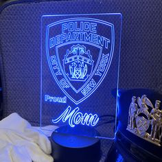 NYPD Police Gift Light - Color Changing Desk Lamp - Select Design or request your own. Premier Display Inc.