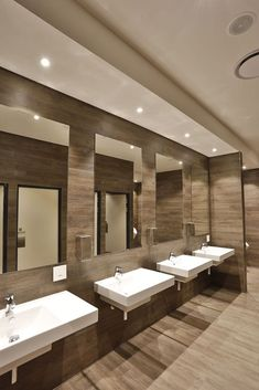 Restroom Design, Public Bathrooms, Toilet Room, Toilet Design, Toilets, Showroom, Ceilings, Deer, Commercial