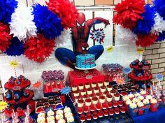 The Amazing Spiderman Dessert table