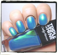 Here's another Sally Hansen Triple Shine. This is one my favorites. It's called: Make Waves. This is 3 coats, 1 coat of Seche Vite.