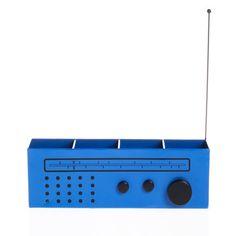 Radio Metal Desk Organiser Blue, 15€, now featured on Fab.