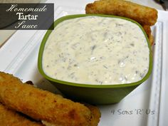 Homemade Tartar Sauce--This simple recipe is perfect for dressing up your next fish dish, whether it be for your fried catfish, grilled fish, crab cakes, tuna cakes, or birthday cakes (just kidding on the last one)!