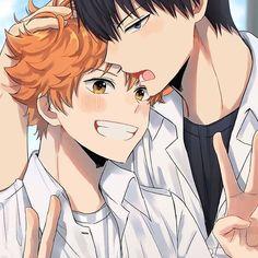 Kageyama X Hinata, Haikyuu Karasuno, Haikyuu Fanart, Haikyuu Anime, Haikyuu Ships, Anime Manga, Anime Guys, Kagehina Cute, Deku Anime