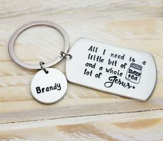 Plastic Medallion Key Ring Colour Choice New Keep Calm and Drink Coffee