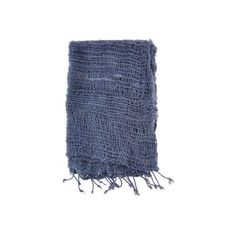 Women's Lulii Organic Cotton Scarf ($36) ❤ liked on Polyvore featuring accessories, scarves, blue, lightweight shawl, blue shawl, summer shawl, organic cotton scarves and woven scarves