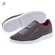 47efeb8e91 Puma Womens Puma Vikky Slip-On Fundamentals Shoes Quiet Shade-Puma White  Size 7