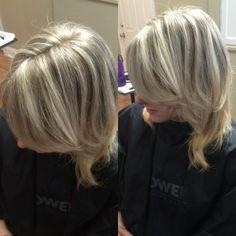 Blonde hair, heavy foil, full head highlight, white blonde hair