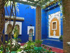 YSL gardens in Marrakech Marrakech Morocco, Marrakesh, Famous Gardens, Bohemian Design, Outdoor Living, Outdoor Decor, Moroccan Style, French Artists, Indoor Garden