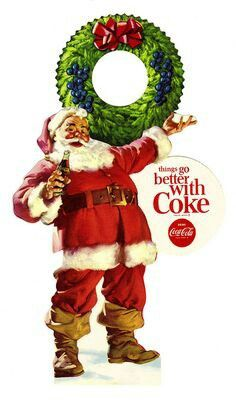 """Our current visions of Santa are derive directly from Coca Cola. Prior to the """"Coke Santa"""" there were MANY pictures of many different """"Santa looks"""". Coca Cola Santa, Coca Cola Christmas, Coca Cola Ad, Always Coca Cola, Merry Christmas, Vintage Christmas Cards, Christmas Pictures, Christmas Time, Coke Santa"""