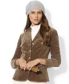 Lauren Ralph Lauren Four-Pocket Corduroy Blazer