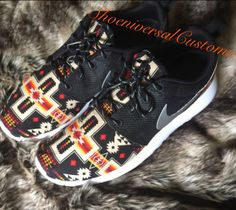 15% OFF SALE Nike Roshe Run Tribal Aztec by ShoeniversalCustoms