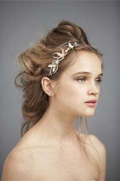 Olive Branch Headband in The Bride Veils & Headpieces at BHLDN
