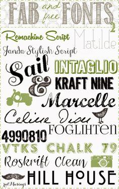 free fonts, chalkboard fonts, modern fonts, dingbat fonts, handwritting fonts