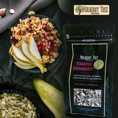 We supply high quality granola that mixed healthy wholefood ingredients. Our Granola has less sugar and better nutrients than other breakfast cereals. Healthy Cereal, Quick Healthy Breakfast, Muesli, Granola, Mulberry Tree, Breakfast Cereal, Cranberries, Superfood, Fresh Fruit
