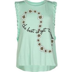 FULL TILT Daisy Infinity Girls Muscle Tank