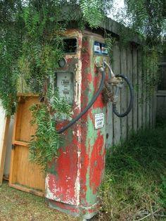 Old gasoline pump. Moss Landing, California. DSMc.2009