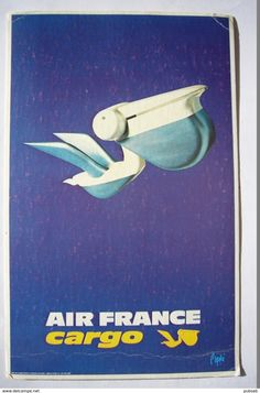 Avion / Airplane / Air France Cargo / Pélican / Adveretising Card / Airline Issue - 1946-....: Ere Moderne