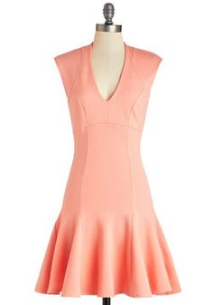 A Dash of Flair Dress in Coral, #ModCloth Yes please!