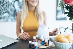 <img> ::I LOVE essential oils <<< I personally like to use a diffuser. You can also rub drops of essential oil between your palms and inhale deeply. Essential Oil Brands, Essential Oils For Hair, Essential Oil Diffuser, Oil Slick Hair, Hair Oil, The Skinny Confidential, Photography Branding, Doterra, Health And Wellness