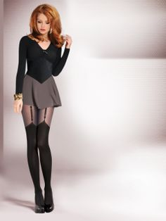 Exclusive fancy tights manufactured from Microfibre and Lycra fibres double braided with polyamide. Without marked panties part Cotton gusset Sewed with flat seam 40 Den