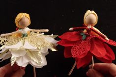 how to make a poinsettia fairy doll