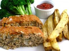 Skinny Ball Park Turkey Meatloaf - thank you Skinny Kitchen! Ww Recipes, Skinny Recipes, Light Recipes, Turkey Recipes, Cooking Recipes, Healthy Recipes, Healty Meals, Kitchen Recipes, Healthy Foods