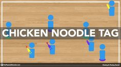 Chicken Noodle Tag is an exciting chasing/fleeing activity that will get your students into one-on-one situations in which they must apply chasing or fleeing tactics in order to be successful.   It's one of the culminating activities of my chasing/fleeing unit, which you'll learn all about next week!