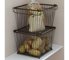 Shop York Stackable Pantry Storage Basket at CHEFS. Much cuter than the plastic bins