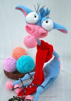 "Giraffe ""George"" Amigurumi crochet pattern by Galina Astashova for LittleOwlsHut www.LittleOwlsHut.com"