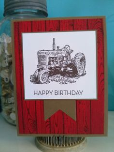 Masculine Birthday Hand Made Greeting Cards, Making Greeting Cards, 123 Cards, Man Card, Birthday Cards For Him, Stamping Up Cards, Fathers Day Cards, Wood Background, Masculine Cards