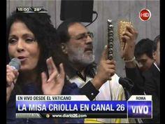 Canal 26 - Misa Criolla en el Vaticano con Patricia Sosa