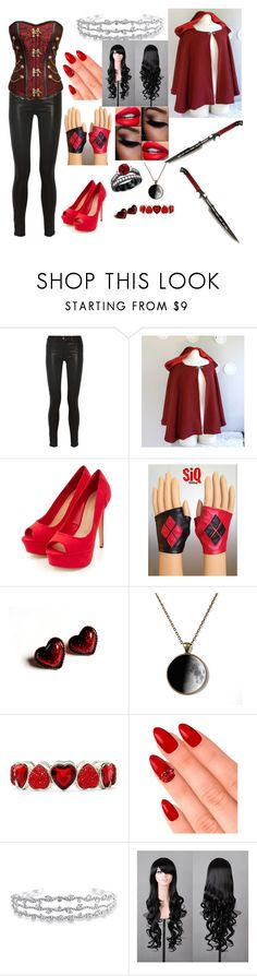 """little red riding hood gone bad"" by anna-lalala ❤ liked on Polyvore featuring J Brand, Avon, Liz Claiborne, eylure and Bling Jewelry"