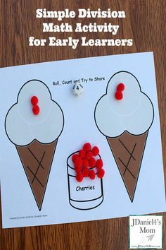 Simple Division Activity for Early Learners based on Should I Share My Ice Cream?