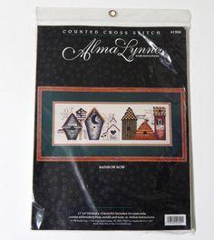 Alma Lynne Counted Cross Stitch Kit Rainbow Row Bird Houses 41394 Bucilla NEW #AlmaLynneDesignsforBucilla #Frame