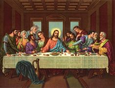 The Last Supper Cross Stitch Pattern***L The Last Supper Tattoo, Last Supper Art, The Last Supper Painting, Da Vinci Last Supper, Jesus Last Supper, Jesus Drawings, Jesus Photo, Cross Stitch Numbers, Pictures Of Jesus Christ