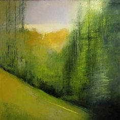 Landscape paintings in a contemporary style. Landscape Artwork, Abstract Landscape Painting, Encaustic Painting, Watercolor Landscape, Watercolor Paintings, Abstract Art, Painting Art, Art Graphique, Canvas Artwork