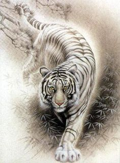 would be an awesome tatoo I WANT THIS (when I'm eligible, of course) Tiger….would be an awesome tatoo I WANT THIS (when I'm eligible, of course) Chinese Tiger, Chinese Art, Chinese Zodiac, Big Cats Art, Cat Art, Tiger Tattoo Design, Tiger Design, Tiger Painting, Tiger Drawing