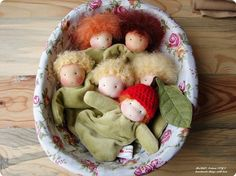 Apple cuddle waldorf babies. So sweet!