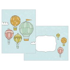 Hot Air Balloons Thank You Cards count), Balloons Online, 10 Count, Vintage Nursery, Hot Air Balloon, Thank You Cards, Color Schemes, Comics, Creative, Kids