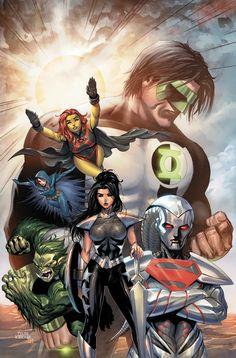 The Very Best of Women in Comics — Artist of the Week: Tyler Kirkham The Teen Titans. Arte Dc Comics, Dc Comics Superheroes, Dc Comics Characters, Marvel Heroes, Dc Comics Women, Comic Books Art, Comic Art, Superman Art, Mundo Comic