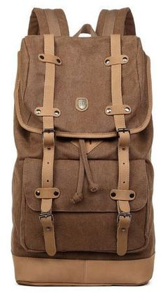 d66e3db0558f Canvas  Travel Laptop  Leather School Outdoor  Backpack Laptop Backpack