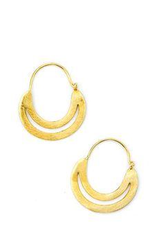 Lunar Hoop Earrings