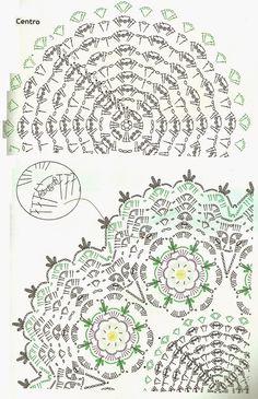OS CROCHES DA ELSA: Ideias para o Natal 9 - Centro de Mesa com Flores Bergamota