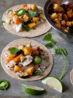 Grilled Fish Tacos with Pineapple Cucumber Salsa Recipe. A light, healthy dinner to start your week off right.