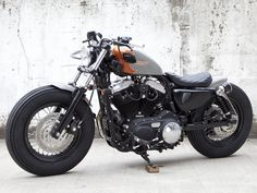 XL 1200X forty-eight by hide motorcycle