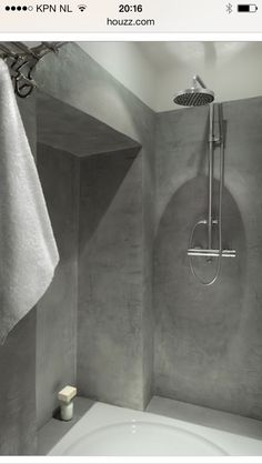 Beton cire rainshower