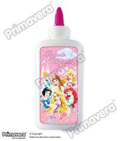 Pegante Líquido Princesas Disney http://escritura.papelesprimavera.com/product/pegante-liquido-princesas-primavera/