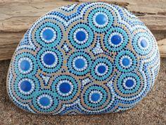 Beach Stone Art/Garden Stones/Painted Stones/Painted Rocks/Inspirational/Meditation/Beach Decor/TheLakeshoreStore/Paperweight via Etsy
