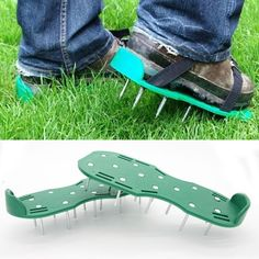 Pair Green Garden Lawn Aerator Spikes Aerating Shoes Garden Lawn Care Tool New Green Garden, Lawn And Garden, Nail Garden, Lawn Sprinklers, Tractor Supplies, Rare Flowers, Tools For Sale, Tools And Equipment, Lawn Care