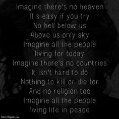 John Lennon: Imagine there's no religion